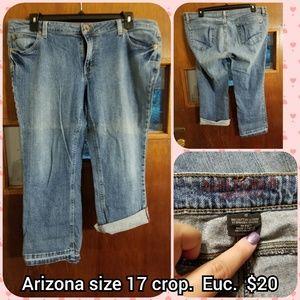 Arizona size 17 crop Jean